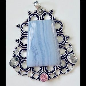 Jewelry - 💎🎁BLUE LACE AGATE PENDANT🎈